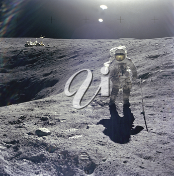 Royalty Free Photo of an Astronaut on the Moon