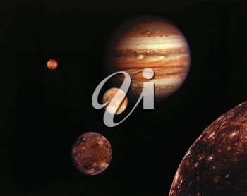 Royalty Free Photo of Jupiter and it's Moons
