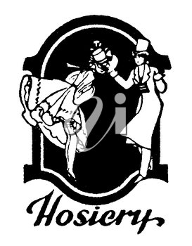 Royalty Free Clipart Image of a Vintage Hosiery Advertisement
