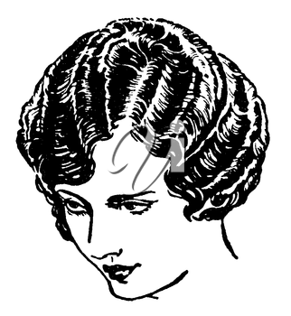 Royalty Free Clipart Image of a Woman's Head