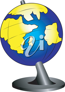 Illustration of the school globe on a support