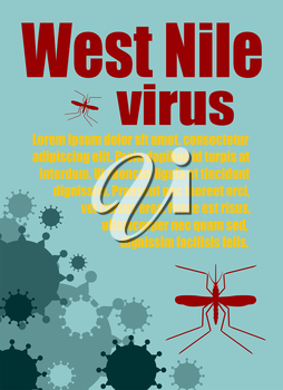 Modern vector brochure, report or flyer design template. Medical industry, biotechnology and biochemistry. Scientific medical designs.  Mosquito transmission diseases relative. West Nile virus