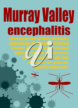 Modern vector brochure, report or flyer design template. Medical industry, biotechnology and biochemistry. Scientific medical designs.  Mosquito transmission diseases. Murray Valley encephalitis