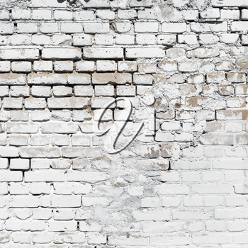 Texture of brickwork. Old industrial white brick wall background.