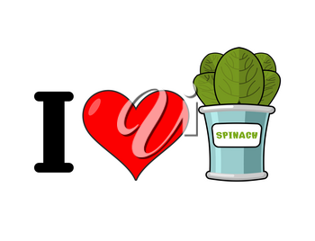 I love spinach. Heart and green leaf lettuce. Tinned greens in tin