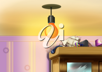 Digital painting of the lamp