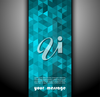 Abstract banner with triangle shapes