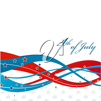 American Independence Day  Patriotic background. Vector illustration