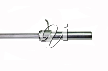 Grif rod with a lock on white background. Sport shells.