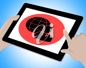 Business Globe Tablet Meaning Www Businesses 3d Illustration