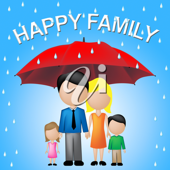 Happy Family Indicating Parenting Joy And Fun