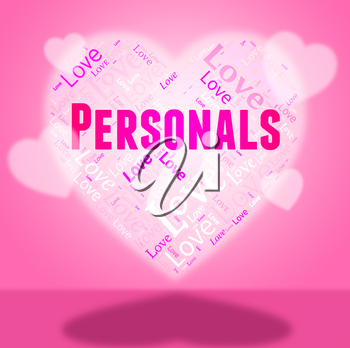 Personals Heart Indicating Hearts Partner And Classifieds