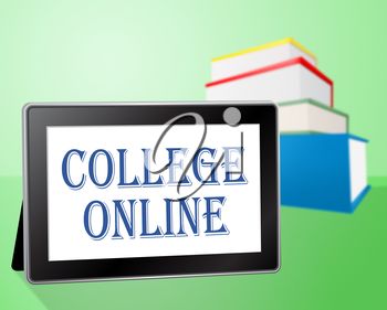College Online Showing Web Site And Educating