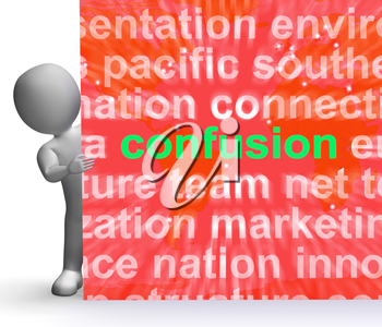 Confusion Word Cloud Sign Meaning Confusing Confused Dilemma