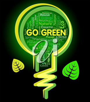 Go Green Indicating recycle Nature And Eco-Friendly