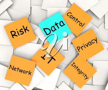 Data Post-It Note Showing Information Privacy And Control