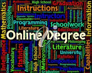 Online Degree Showing World Wide Web And Website