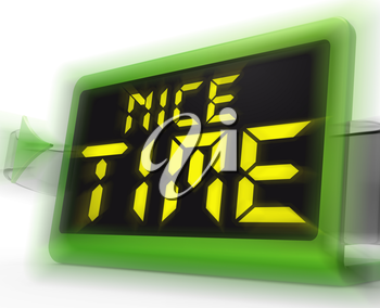 Nice Time Digital Clock Meaning Enjoyable And Pleasant Experience