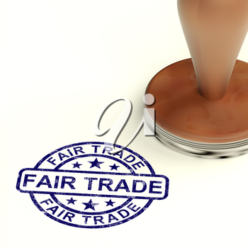 Fair Trade Stamp Shows Ethical Produce