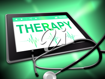Therapy Tablet Indicating Www Web And Tablets
