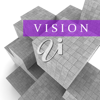 Vision Blocks Meaning Commercial Mission 3d Rendering