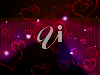 Hearts Background Showing Love Affection And Adoring