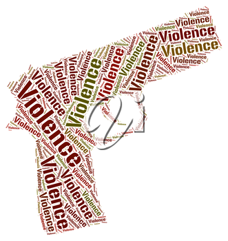 Violence Word Representing Wordclouds Cruelly And Wordcloud
