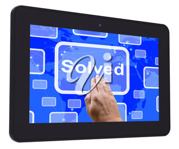 Solve Tablet Touch Screen Showing Achievement Resolution Solution And Solved