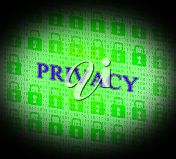 Locked Private Indicating Restricted Safety And Access