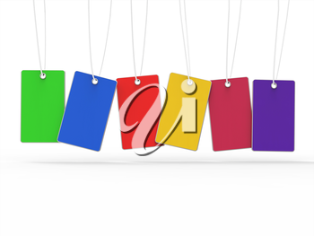 Copyspace Tags Representing Colourful 6 And Multicoloured