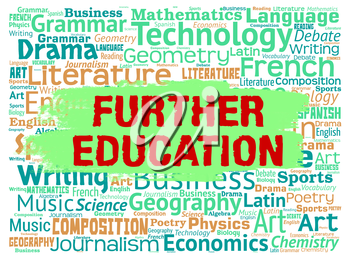 Further Education Showing Learn Study And Tertiary