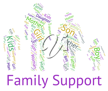 Family Support Indicating Blood Relation And Information
