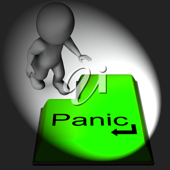 Panic Keyboard Meaning Alarm Distress And Dread