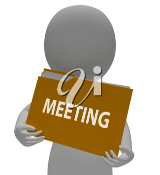 Meeting Folder Showing Folders Agm And Organize 3d Rendering