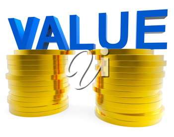 Good Value Indicating Worth Important And Revenue