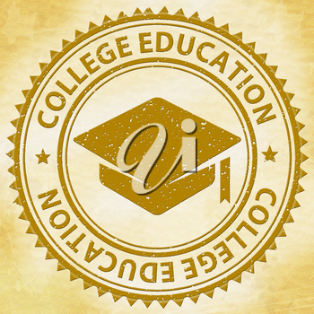 College Education Representing Educated Training And Learned