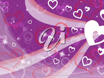 Hearts Background Showing Loving Partner Family And Friends