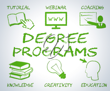 Degree Programs Indicating Web Site And Bachelors
