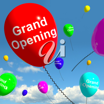 Grand Opening Balloons Shows New Store Launch