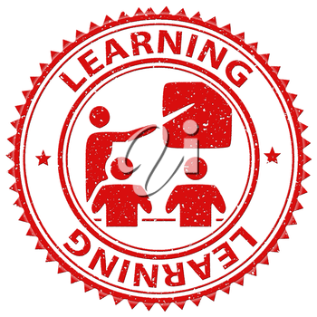 Learning Stamp Showing Learns Learned And Print