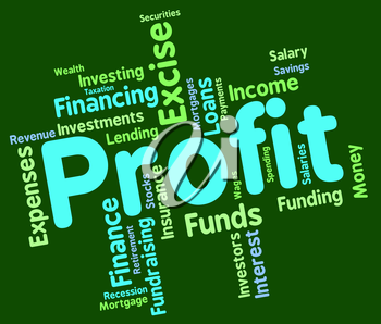 Profit Word Showing Earning Investment And Profits
