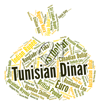 Tunisian Dinar Representing Currency Exchange And Dinars