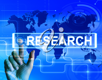 Research Map Displaying Internet Researcher or Experimental Analyzing