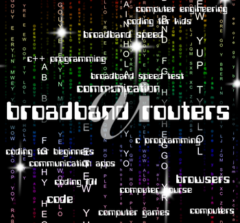 Broadband Routers Meaning World Wide Web And Global Communications