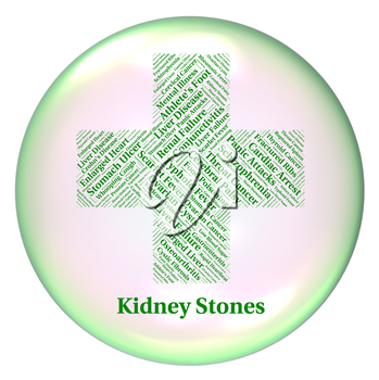 Kidney Stones Representing Poor Health And Disorder