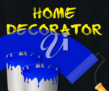 Home Decorator Paint Displays House Painting 3d Illustration