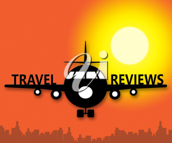 Travel Reviews Plane Meaning Holiday Feedback 3d Illustration
