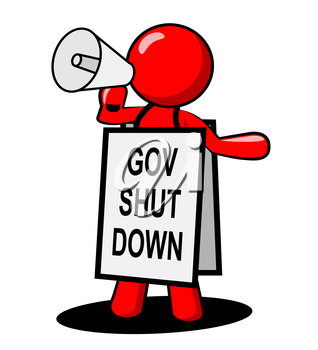 Government Shut Down Man Means United States Political Closure. President And Senators Cause Shutdown Across The Nation
