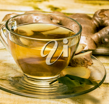 Ginger Tea Cup Representing Teas Natural And Beverages
