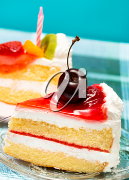 Cherry Cream Cake Showing Cafeteria Delicious And Gateaux